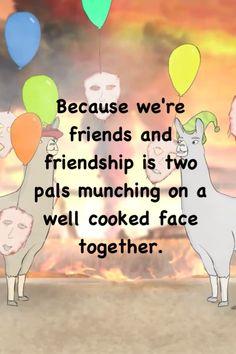 SecretAgentBob - Llamas with Hats 4 - definition of friendship