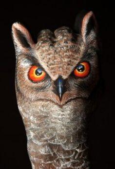 My Owl Barn: Handimals Hand Painting by Guido Daniele