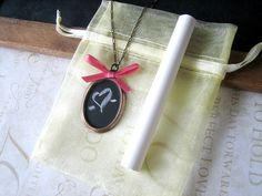 DIY Chalkboard Necklace #jewelry #DIY #craft