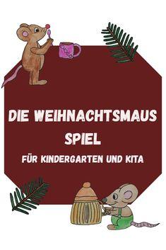 Die Weihnachtsmaus, In Kindergarten, Diy For Kids, Xmas, Winter, Diy, Kindergarten Games, Children Laughing, Kids Day Out