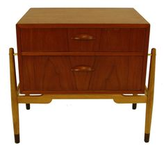 Danish Modern Two Drawer Stand Designed by Kai Kristiansen