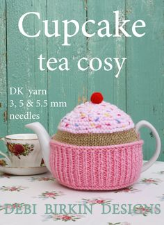 cupcake knitting pattern tea cosy teacozy teacosy cozies cozy cosies PDF email. $3.99, via Etsy.