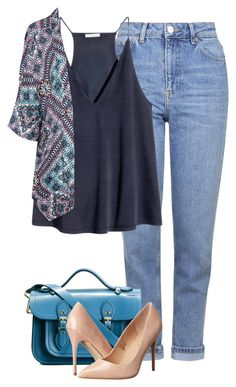 """""""Senza titolo #785"""" by blackflowerblossom ❤ liked on Polyvore featuring Topshop, H&M, Glamorous, The Cambridge Satchel Company and Madden Girl"""