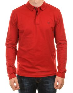 Victorinox Long Sleeved Polo - Red
