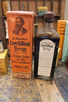 Antique 1914 Unopened Dr Thacher's Liver and Blood Syrup Quack Medicine Collectible