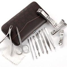 12pcs Nail Art Tweezers Clipper Scissors Manicure Pedicure Grooming Kit Tool Set from Fraulein 38 - Pedicure N Manicure - http://www.pedicurenmanicure.com/12pcs-nail-art-tweezers-clipper-scissors-manicure-pedicure-grooming-kit-tool-set/