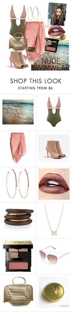 """Nude Swimwear for Summer Fun!"" by kittybadkat on Polyvore featuring IVI, CHARLES & KEITH, Lana, NEST Jewelry, Bobbi Brown Cosmetics and Tahari"