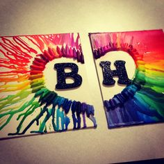 Best friend crayon art