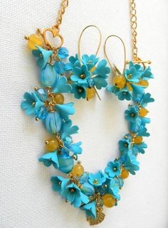 Turquoise jewelry  Necklace turns into a bracelet by insoujewelry, $68.00