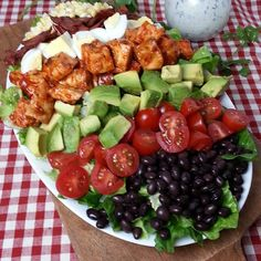 #ontheblog soon! BBQ Chicken COBB Salad with Cilantro Lime Ranch Dressing