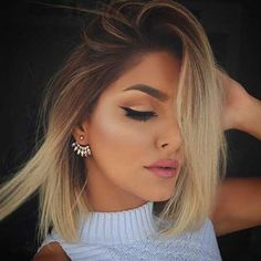 dark brown to blonde ombre short hair - Google Search