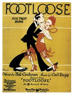 Footloose 1920s vintage sheet music  Flapper  fox trot