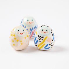 Esprit du matin et esprit de la pluie, porte-bonheurs en céramique - Dodo Toucan
