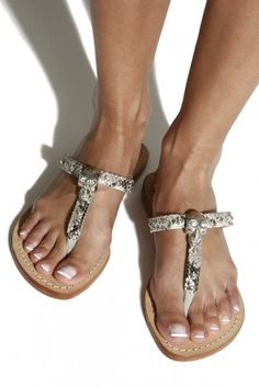 The snake print sandals by Mystique are stylish all-rounders for the summer and a hip alternative to high heels.