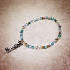Seahorse Charm Bracelet  on Etsy, $14.00