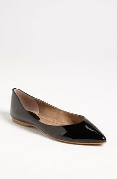 I like a pointy toe flat for work because it elongates the legs.