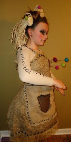 Voodoo doll costume.