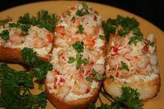 Garlic Shrimp Crostini from Food.com: Sauteed garlic shrimp on cheese topped crostini. A Spanish Tapa!