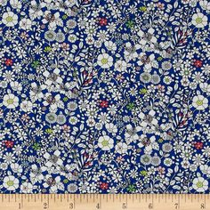 From the world famous Liberty Of London, this exquisite cotton lawn fabric is finely woven, silky, very lightweight and ultra soft. This gorgeous fabric is oh so perfect for flirty blouses, dresses, lingerie, even quilting. Colors include blue and white with pink, peach, green, and coral accents.