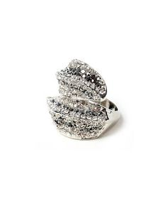 Set a stylish trend with this riveting ring! Austrian crystals and silver plating combine for a design worth the wardrobe addition.