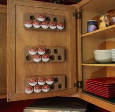 How to Organize and store Keurig K Cups - New Idea for cabinet doors or walls.