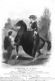 Riding habit: Le Moniteur de la mode 1851 - Google Books