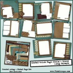 Carrie Stephensglobalqps12x12 Scrapbooking 101 8x8 Scrapbook Layouts Sketches My Page Maps