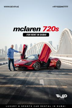 McLaren 720S Spider for rent in Dubai is a car designed to offer enthusiastic drivers an extreme level of road car performance, combining the next level of performance, efficiency, emotion and excitement into a single beautiful, functional whole. Book now for your Dubai Hyper Ride. Call or send a message +971522447777 Luxury Sports Cars, Rent Car, Dubai, Spider, Book, Beautiful, Spiders, Book Illustrations, Books