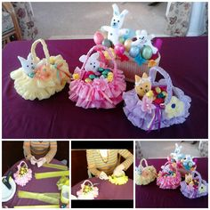 Beautiful Easter Basket from Recycled Plastic Bag and Bottle #DIY #crafts #Easter