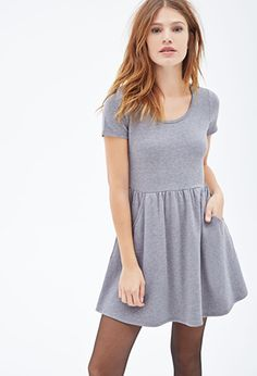 French Terry Pocket Dress | FOREVER 21 - 2000081789