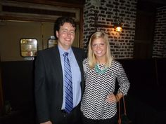 #Attorney Evan Guthrie with Paige Chamberlain, Charleston School of Law Class of 2015 at the South Carolina Bar Young Lawyers Division Happy Hour With Summer Law Clerks On Thursday August 8th 2013 At Midtown Bar & Grill In Charleston, SC