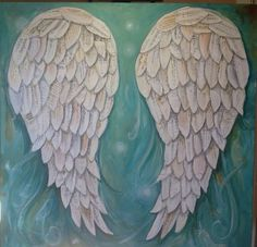 24 x 24 angel wings  custom order    You can specify certain quotes or songs.  Choose your background colour    This is a recent comment from a