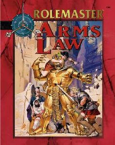 Product Line: Rolemaster  Product Edition: RMFRP  Product Name: Arms Law  Product Type: RPG Rules  Author: ICE  Stock #: 5801  ISBN: 1-55806-551-2  Publisher: ICE  Cover Price: $14.00  Page Count: 124  Format: Softcover  Release Date: 1999  Language: English