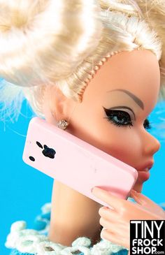 Barbie Apple IPhone....looking to upgrade? Buy now at Tinyfrockshop.com....no contract needed!