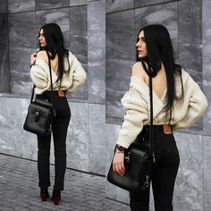 Vintage Levi's and chunky knit