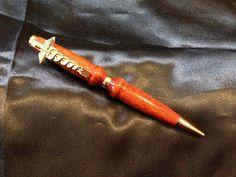 Handcrafted Blood Wood Medical Themed Pen Finished In 24K Gold #BurningWoodsBurningAngelDesigns