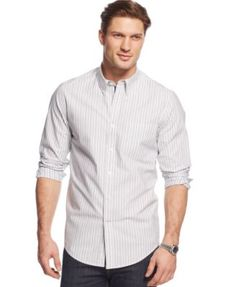 Club Room Big and Tall Weston Long-Sleeve Shirt