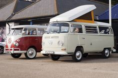 The sun was out at the annual Hastings classic car show – classic VW relatives side by side!