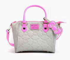 Gorgeous Hello Kitty handbag with neon highlights