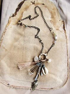 Asterion tribal sci fi necklace by sparrowsalvage