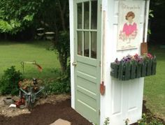 12 Simple Potting Shed transformation designs for your landscaping outdoor space Mini Garden Shed Made From Old Doors Garden Tool Shed, Garden Tool Storage, Storage Shed Plans, Garden Sheds, Shed Conversion Ideas, Patio Diy, She Sheds, Potting Sheds, Shed Design