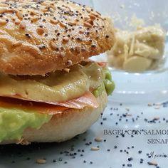Healtly food, avocado, salmon, bagel ❤️❤️❤️
