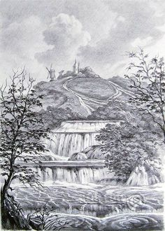 Pencil & charcoal - Buscar con Google  Pencil drawings. Drawing. Landscape with waterfall. Kulagin Oleg www.arthit.ru500 × 700Buscar por imagen 'Landscape with waterfall'. Kulagin Oleg