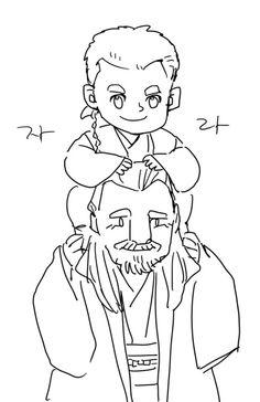 Qui-Gon and little Obi-Wan :)