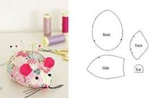 Best 11 mouse pincushion but could also be a cat toy Mouse Crafts, Felt Crafts, Fabric Crafts, Diy And Crafts, Sewing Aprons, Sewing Toys, Sewing Crafts, Sewing Patterns Free, Free Sewing