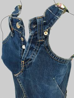jeans dress 'dokjurk', loose fit, A-line shape - Jeans Kleid & lockere Passform a-line Form Clothes Refashion, Diy Clothing, Sewing Clothes, Diy Jeans, Jean Diy, Artisanats Denim, Denim Fashion, Fashion Outfits, Trendy Outfits