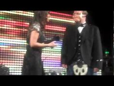 """Celebrity Juice"" moment at the Vision Ball, with a nifty piece of kilt swinging! Nina Conti, Human Puppet, Nifty, Puppets, How To Become, Minimal, Youtube, Dolls, Youtubers"