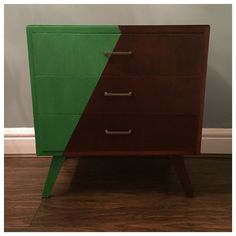 Trendy, part-painted chest of drawers