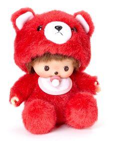 Red Bear Bebichhichi Plush Toy