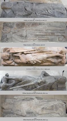 6 Effigy Knights of Temple Church, London including William Marshal